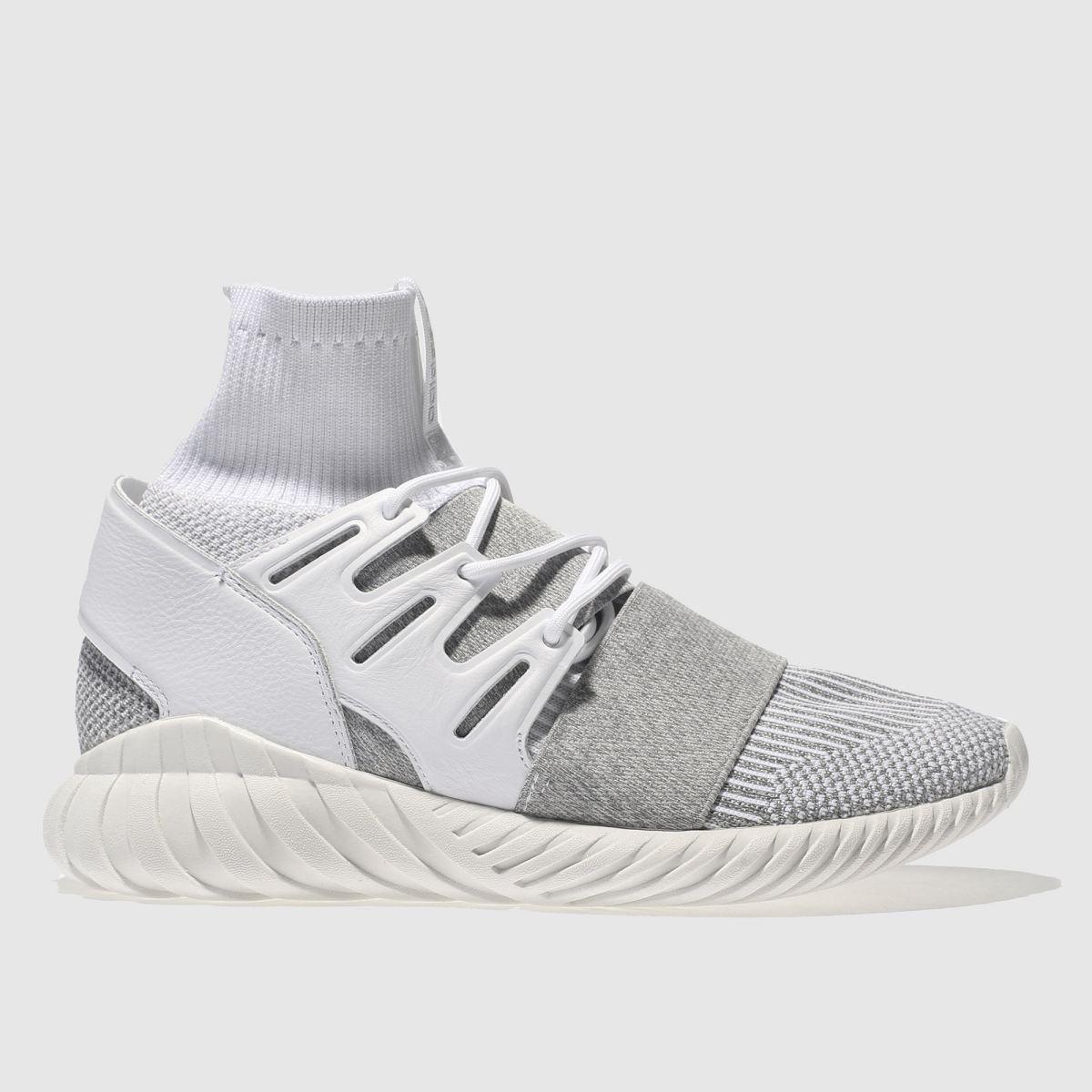 adidas grey tubular doom primeknit trainers
