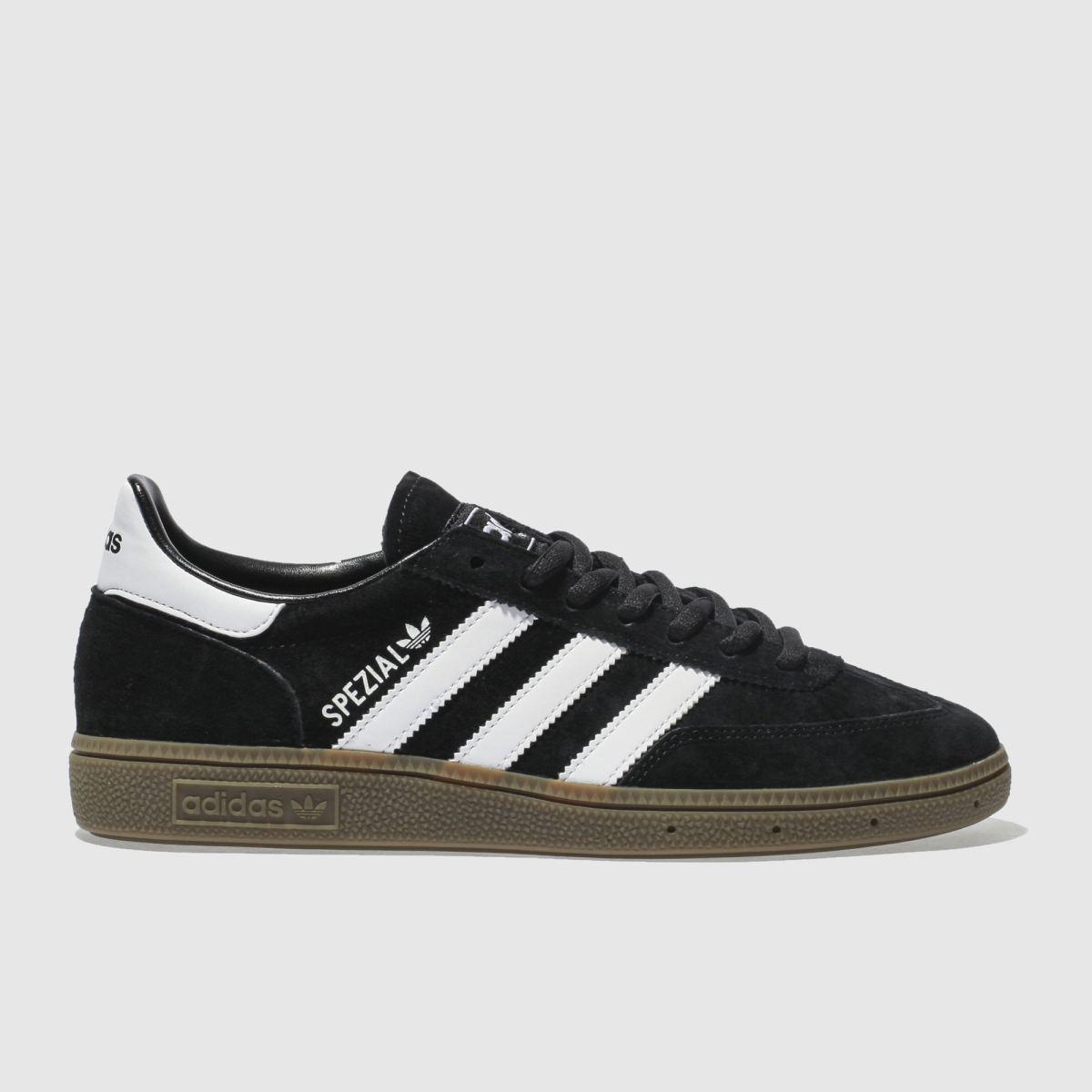adidas black & white handball spezial trainers