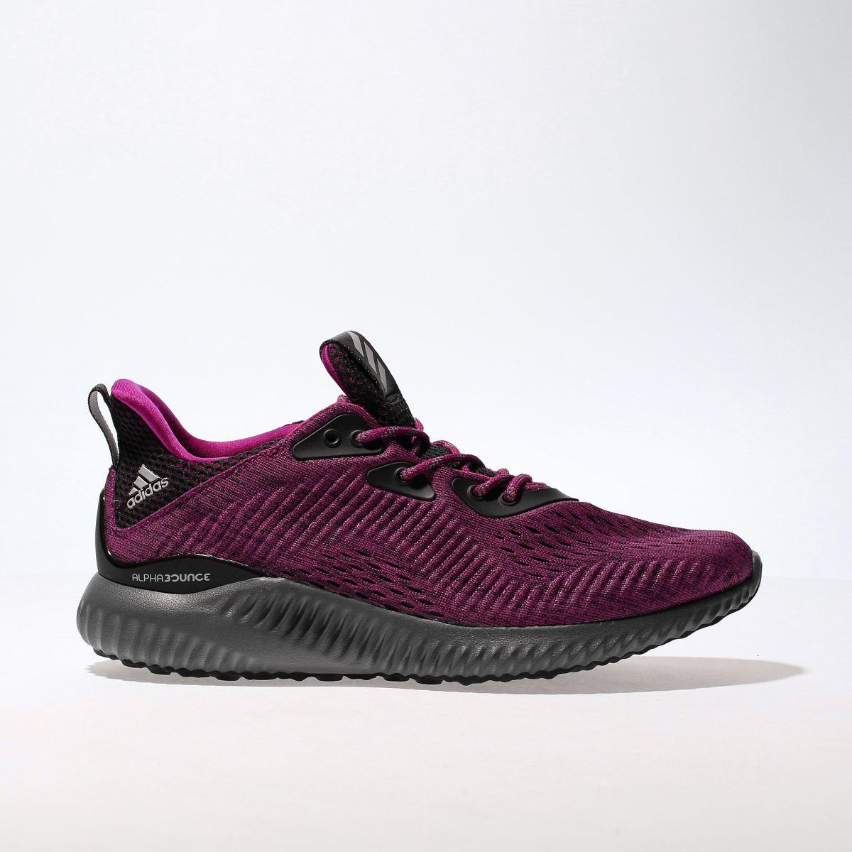 adidas burgundy alphabounce em trainers