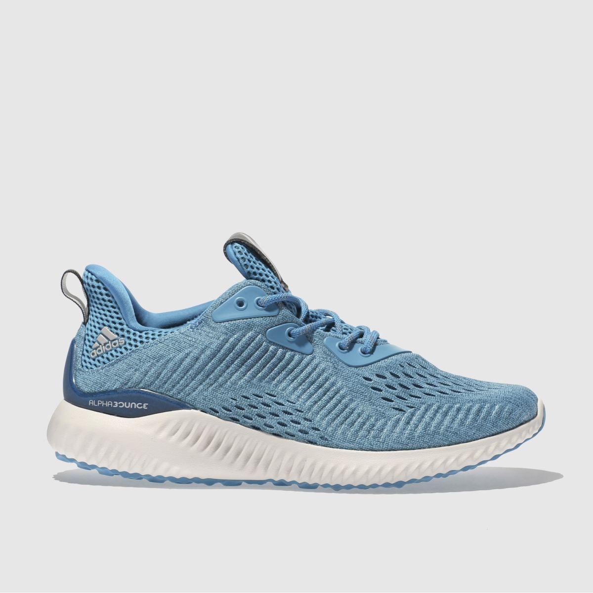 adidas blue alphabounce em trainers