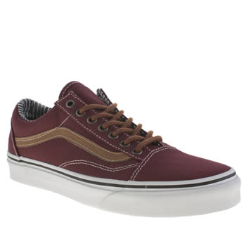 Mens Vans Burgundy Old Skool Trainers