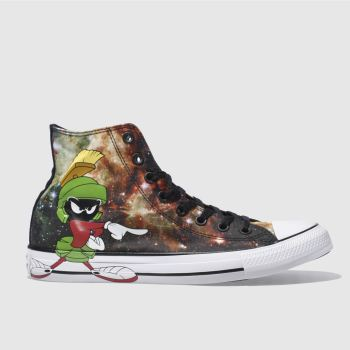 Converse Black Looney Tunes Marvin Hi Mens Trainers
