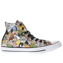 Converse Black & Green Looney Tunes Multi Hi Mens Trainers