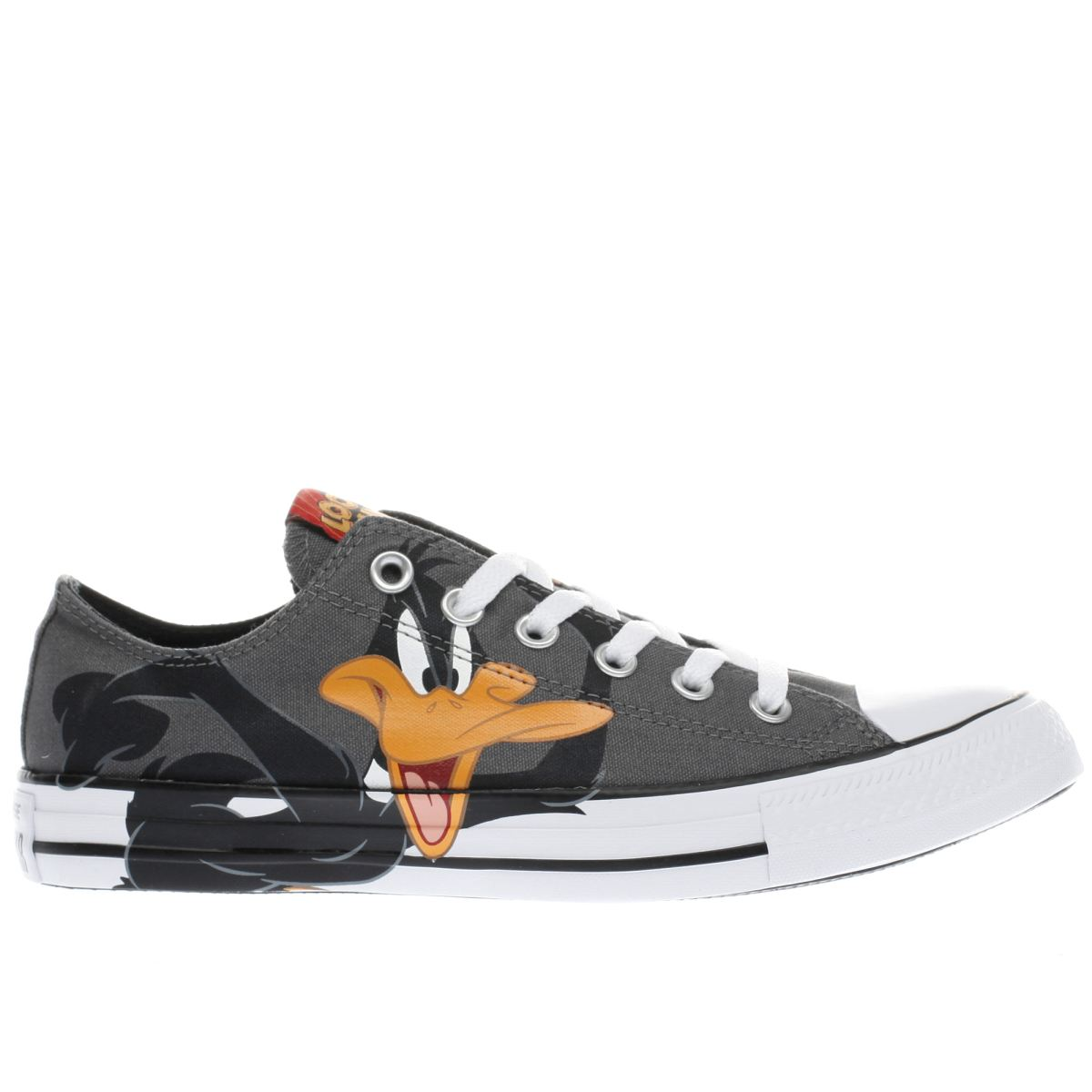 converse grey & black daffy ox trainers