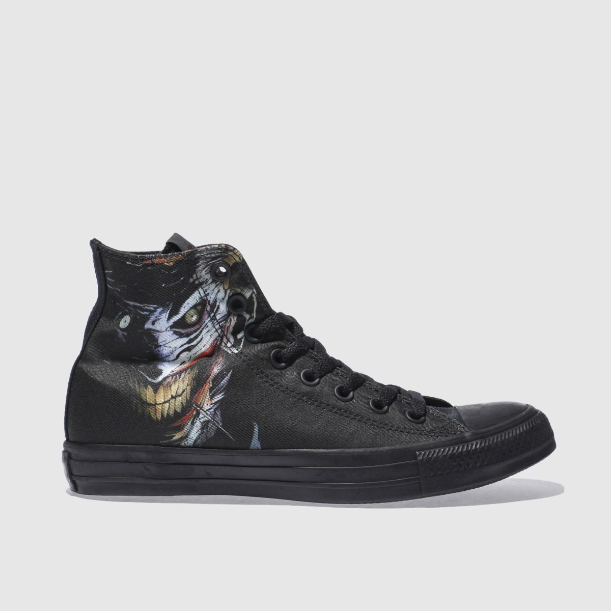 converse black chuky taylor all star hi joker trainers