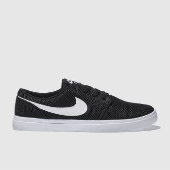 Nike Sb Black & White Portmore Ii Ultralight Trainers