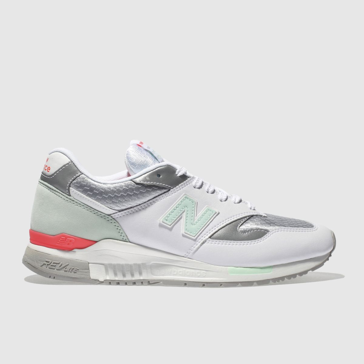 New Balance White & Silver 840 Trainers