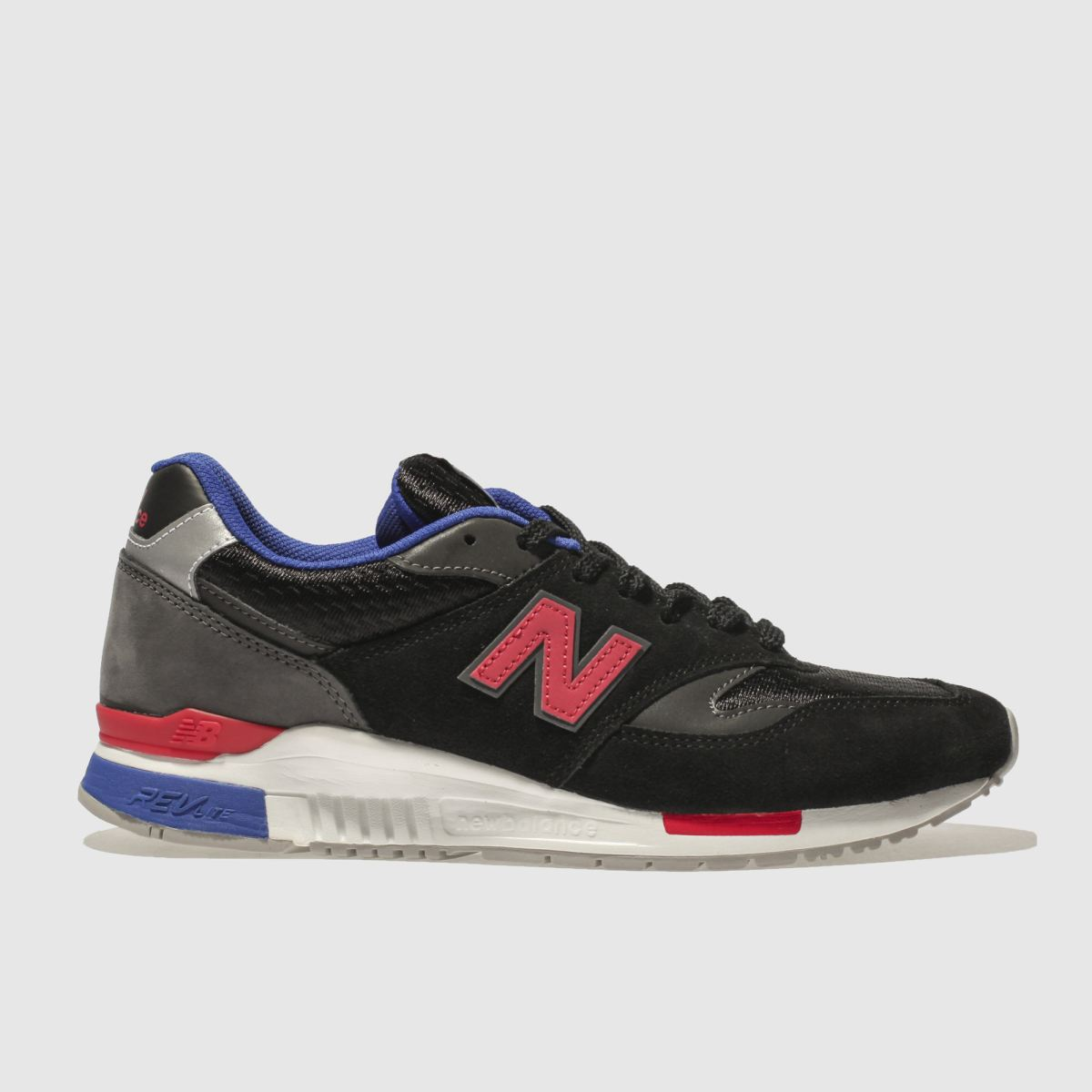 New Balance Black & Grey 840 Trainers