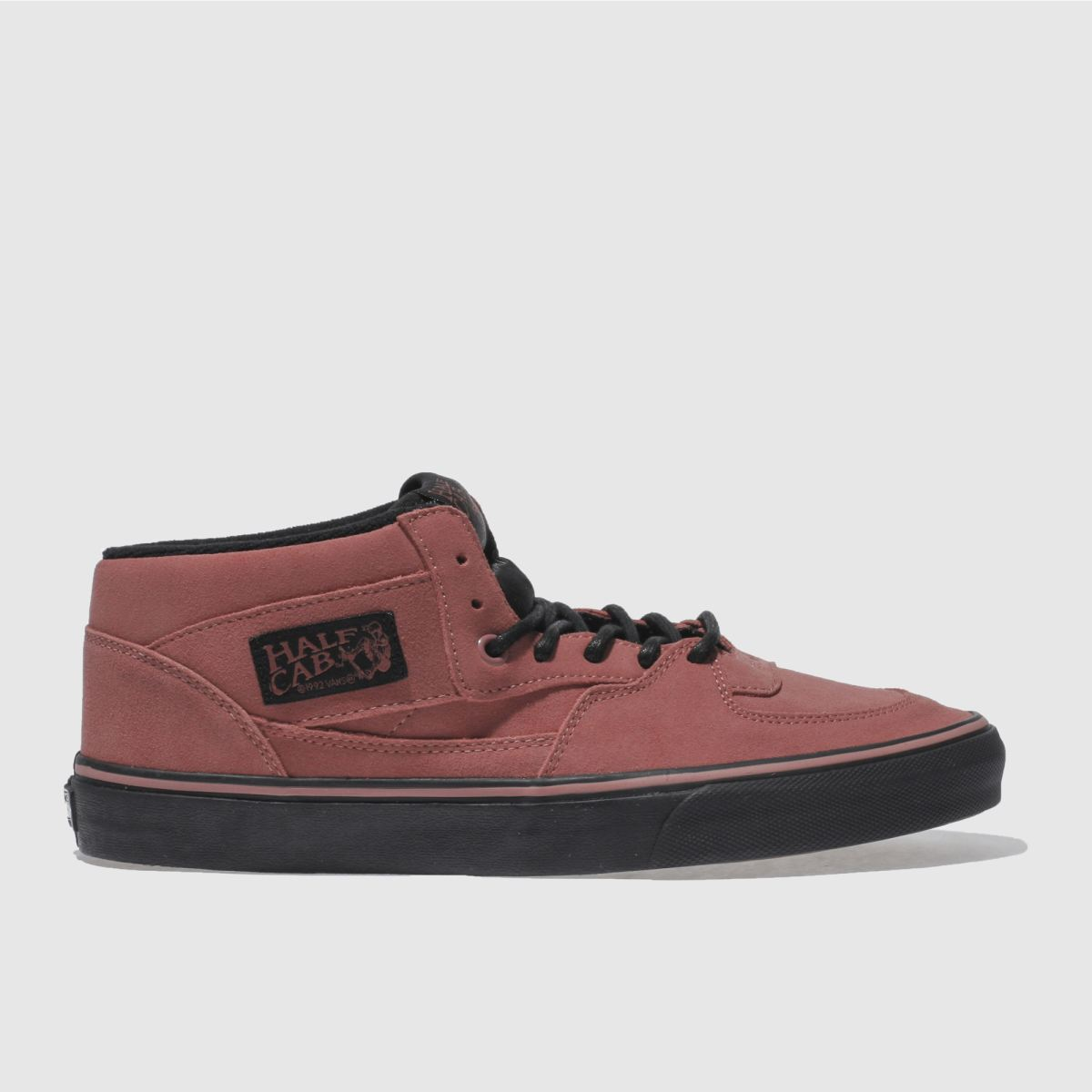 vans red half cab trainers