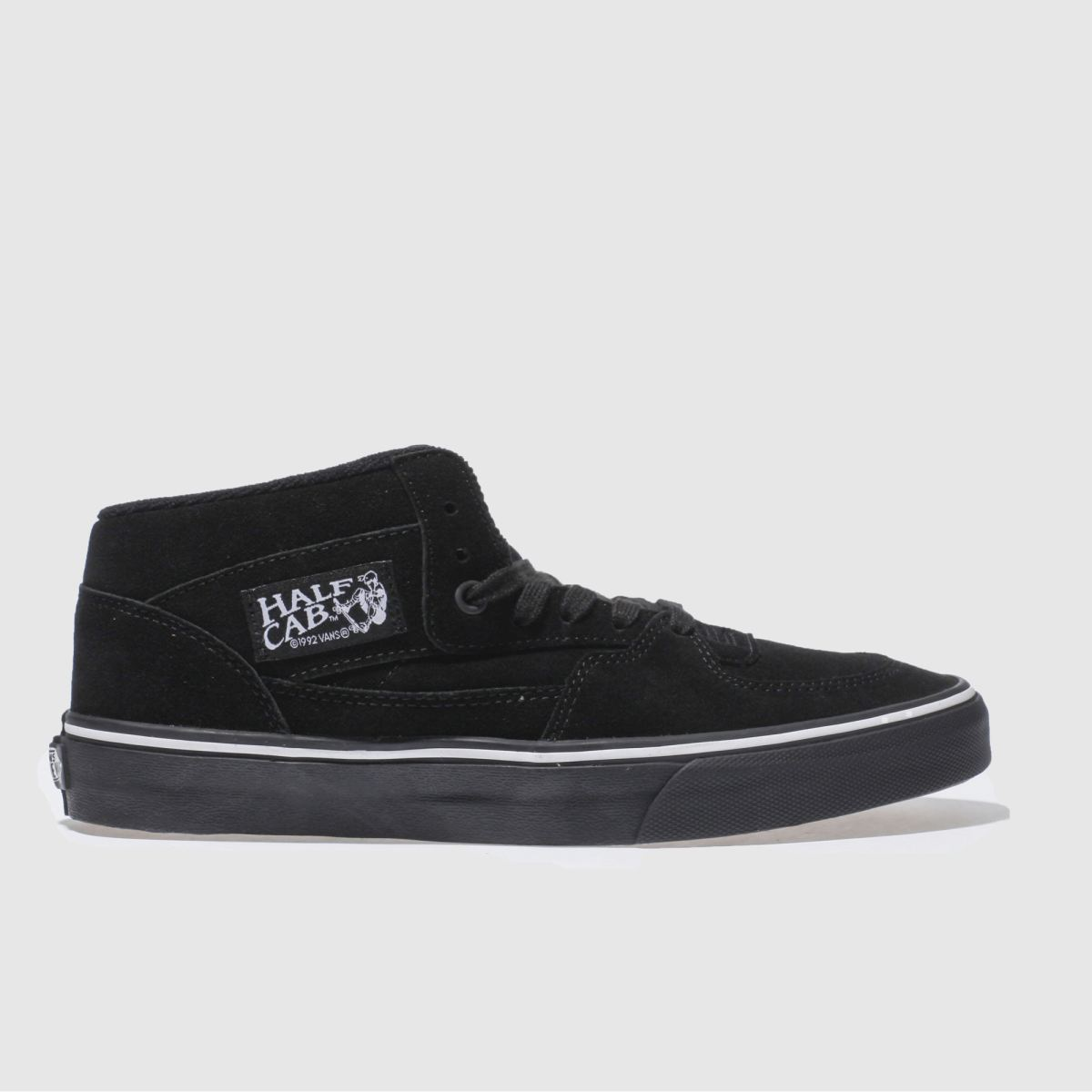 vans black half cab trainers
