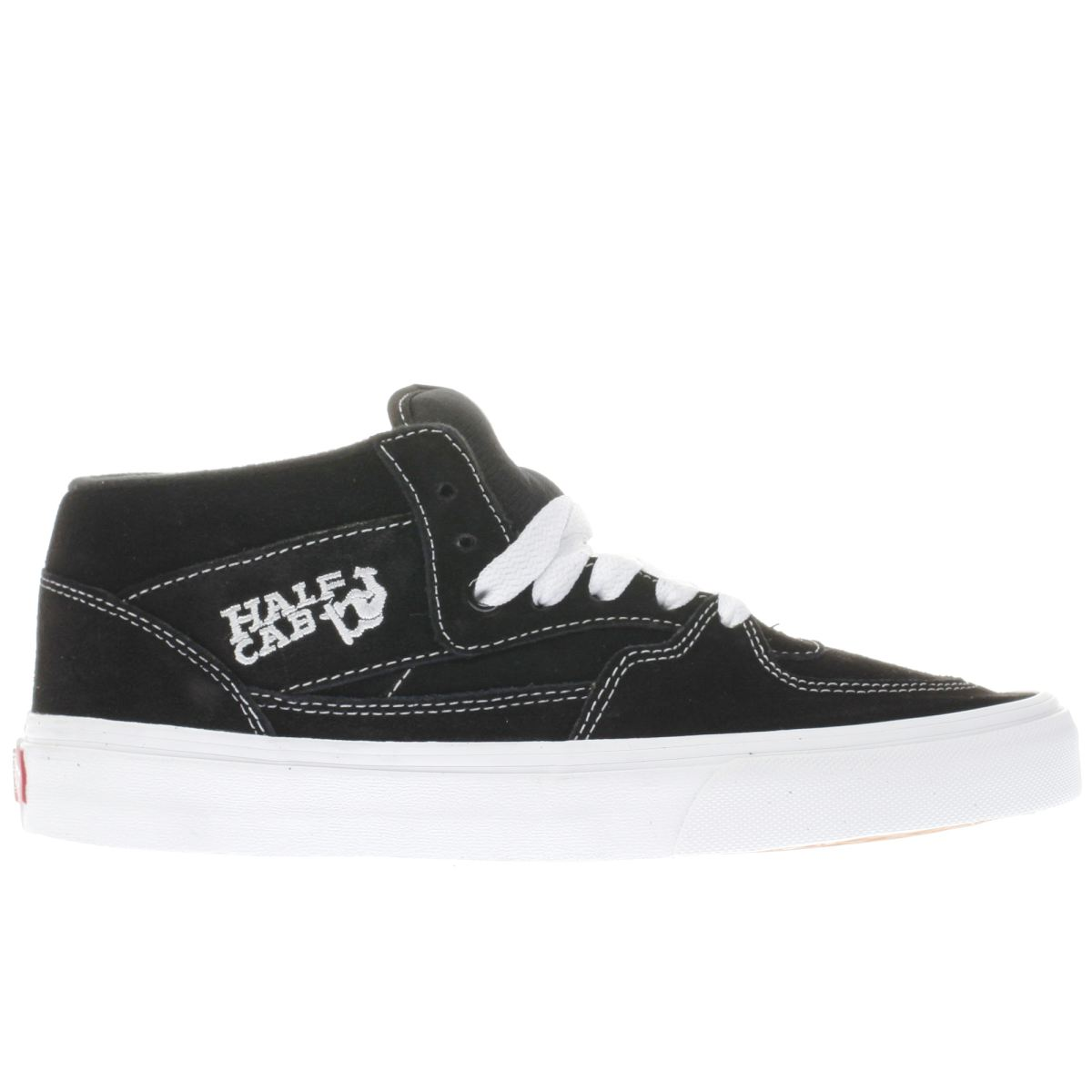 vans black & grey half cab trainers