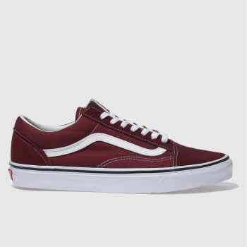 Vans Burgundy Old Skool Mens Trainers