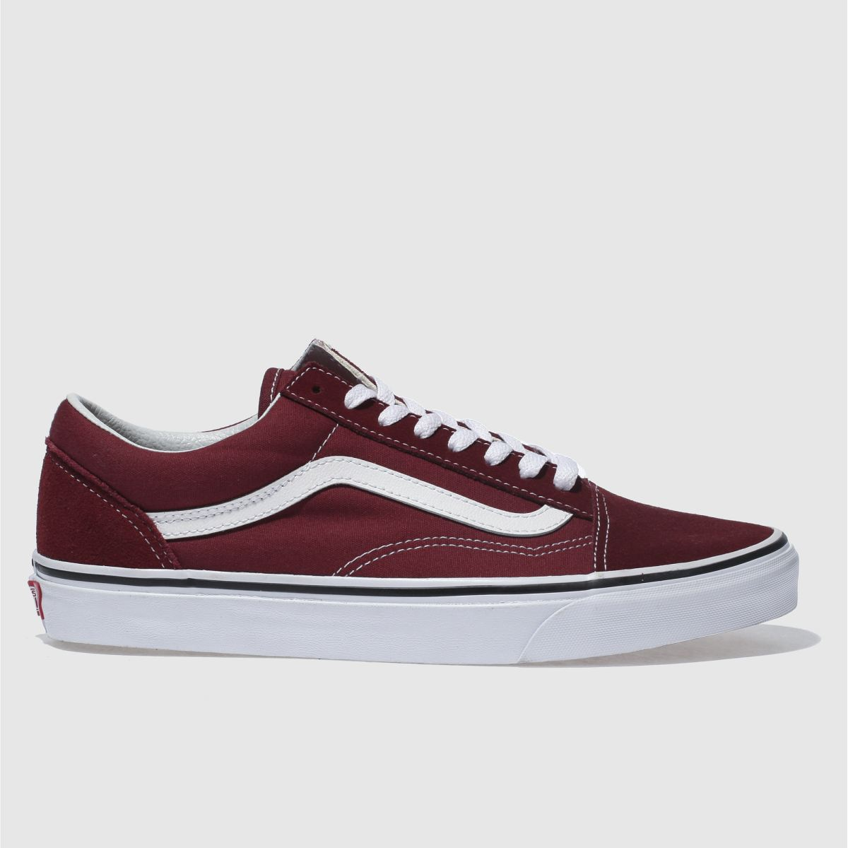 vans burgundy old skool trainers