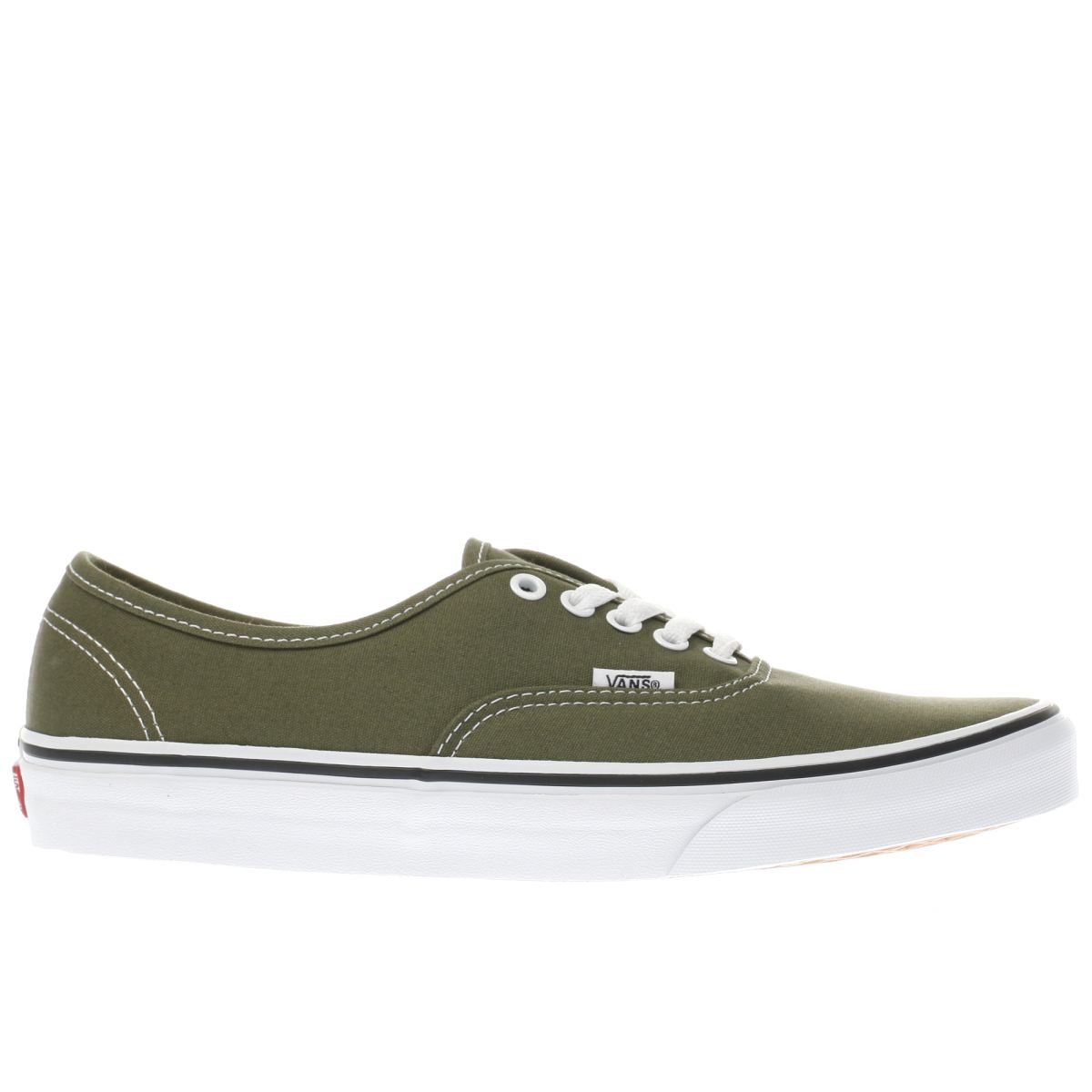 vans khaki authentic trainers