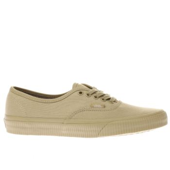 Vans Beige Authentic Mens Trainers