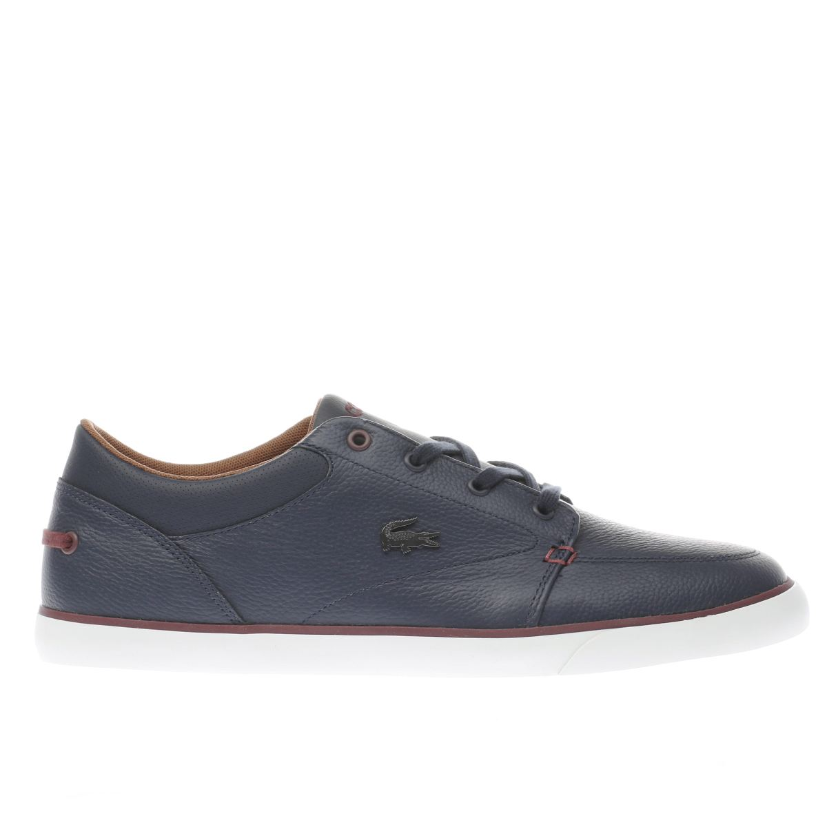 lacoste navy bayliss vulc trainers