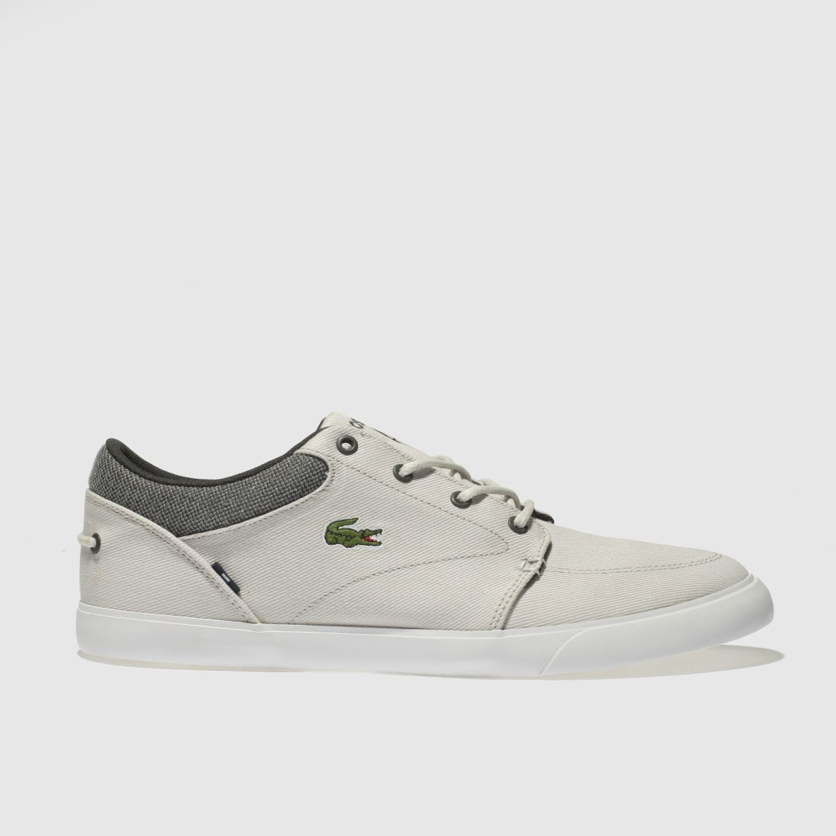 Lacoste Light Grey Bayliss Trainers