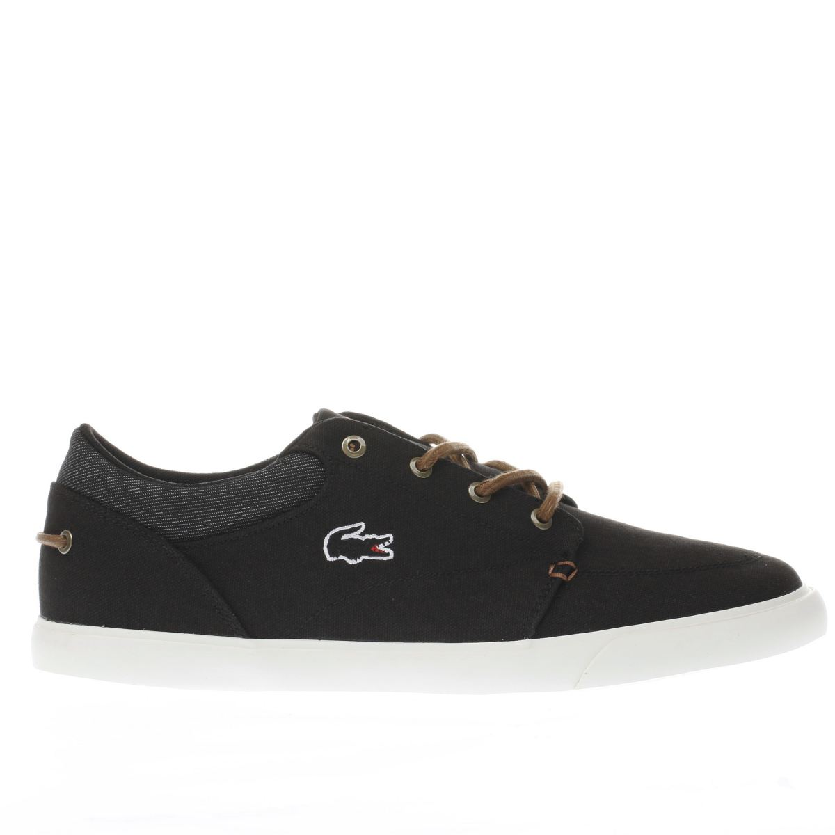 lacoste black bayliss vulc trainers