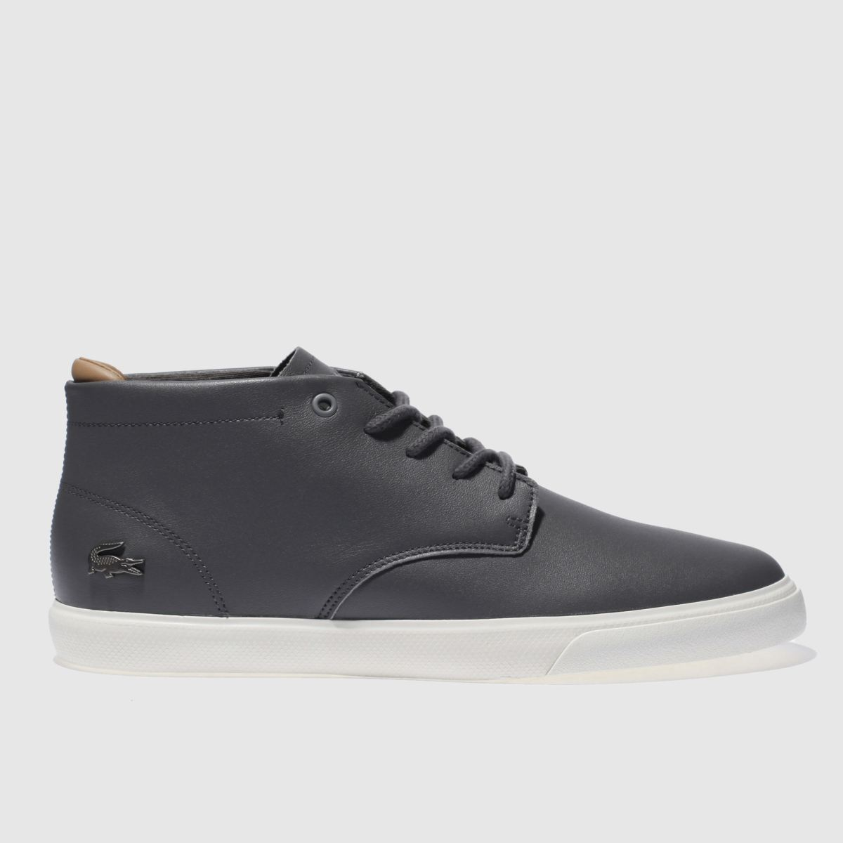 lacoste dark grey espere chukka trainers