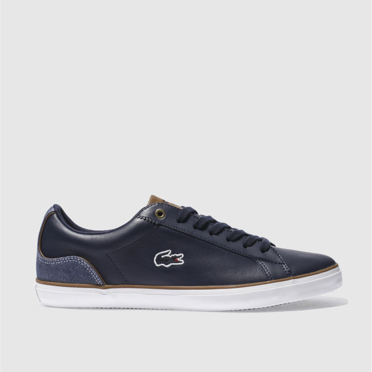 lacoste navy lerond 317 trainers