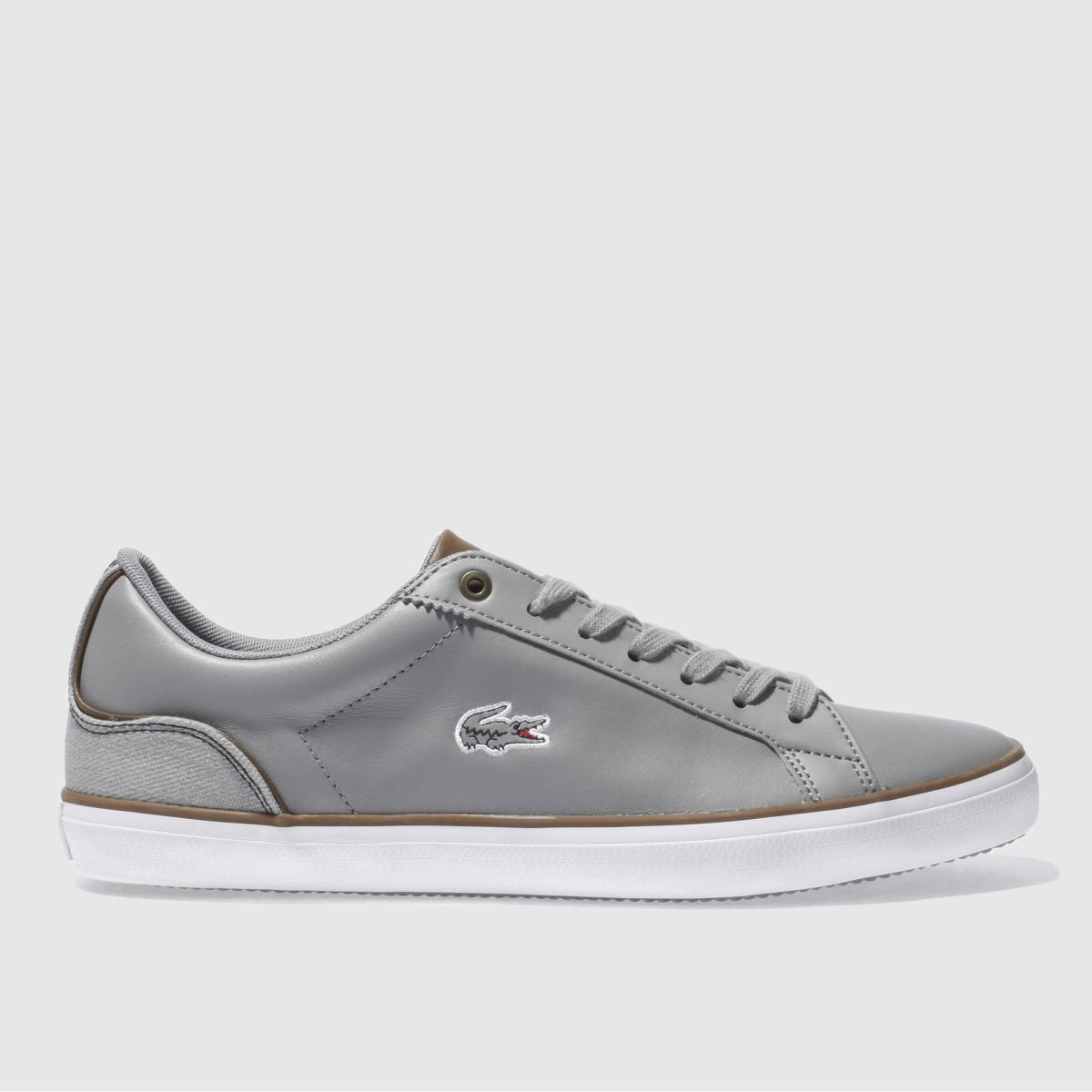 lacoste grey lerond 317 trainers