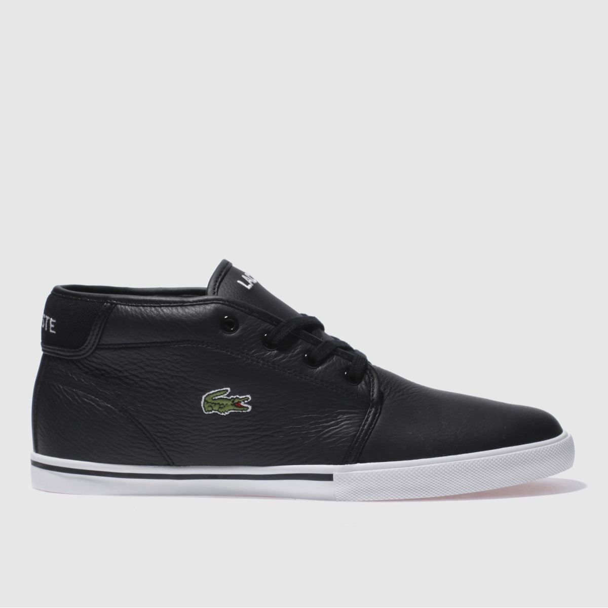 lacoste black ampthill lcr3 trainers
