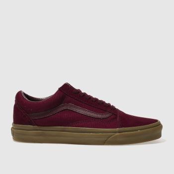 Vans Burgundy Old Skool Light Gum Mens Trainers