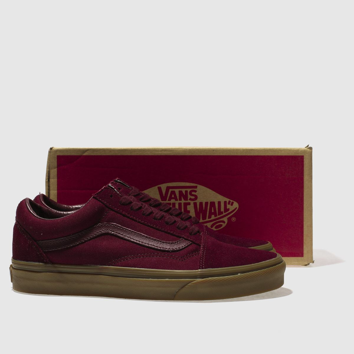 burgundy vans old skool