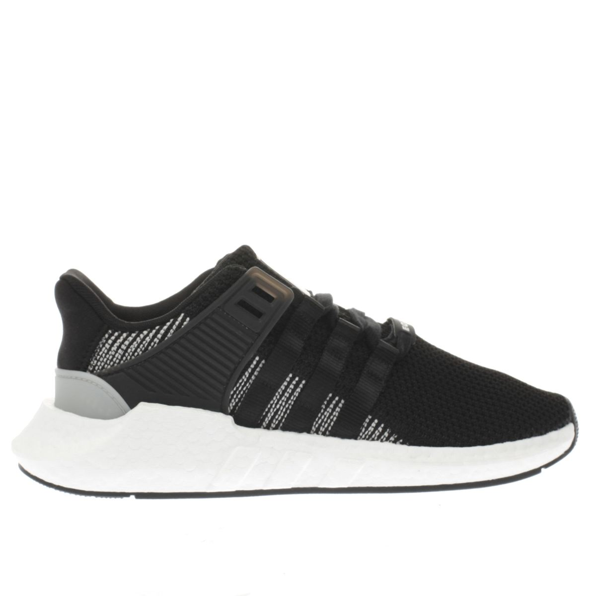 adidas black & white eqt support 93/17 trainers