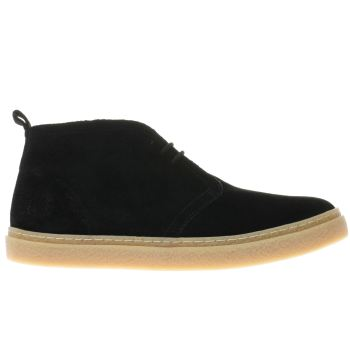 Fred Perry Black Hawley Mid Mens Boots