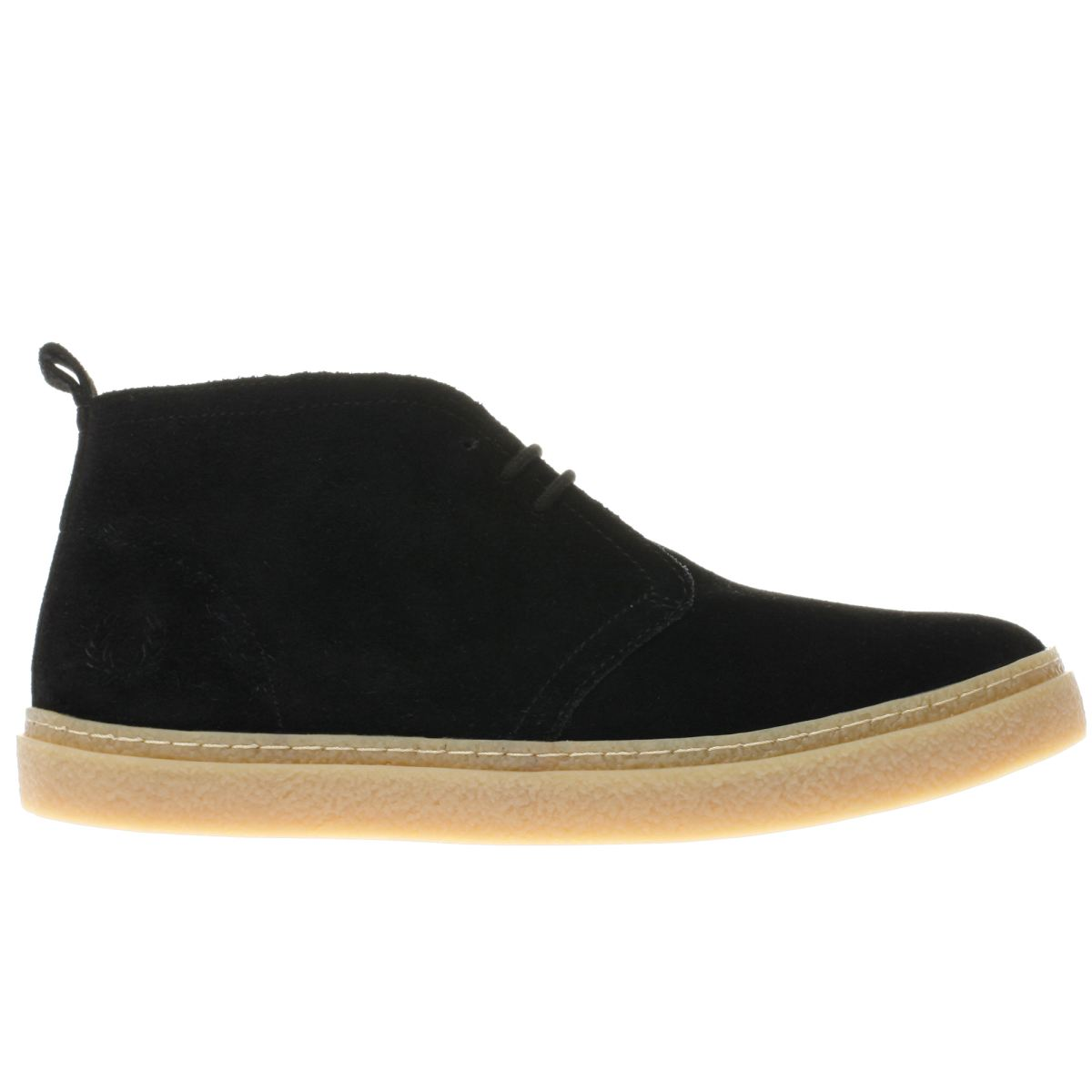 fred perry black hawley mid boots