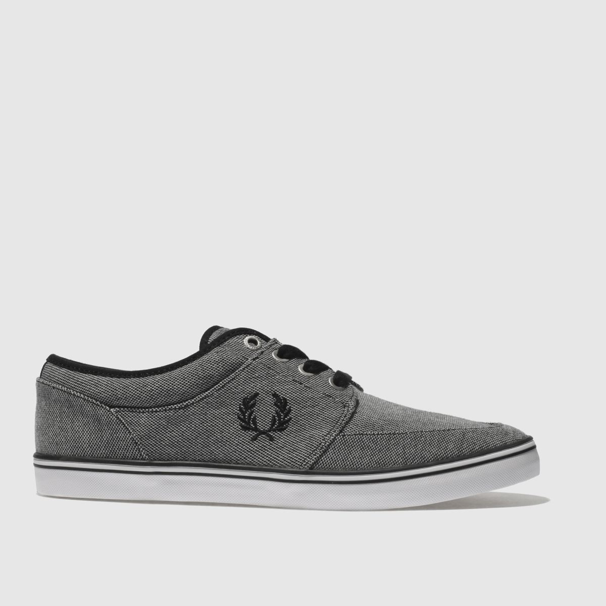 Fred Perry Black Stratford Pique Trainers