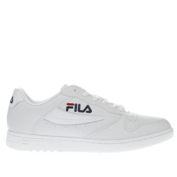 Fila White & Navy Fx100 Low Trainers