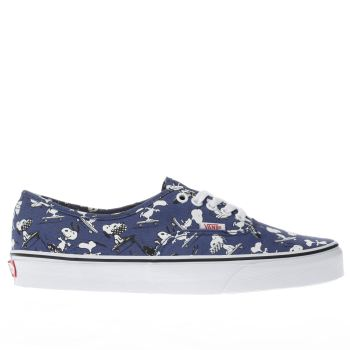Vans Navy Authentic Peanuts Snoopy Mens Trainers