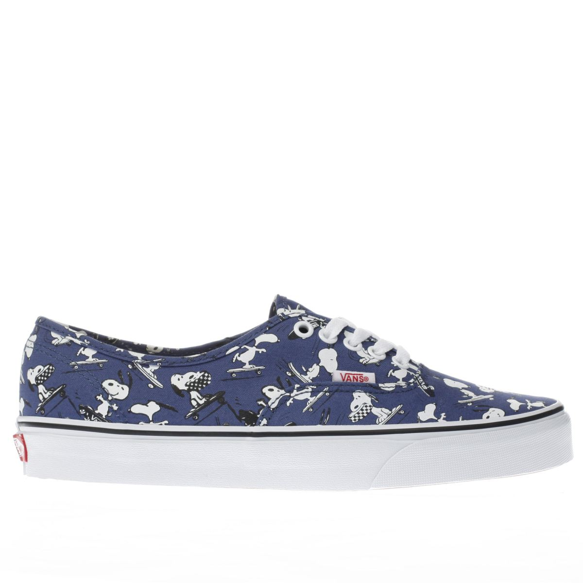 vans navy & white authentic peanuts snoopy trainers