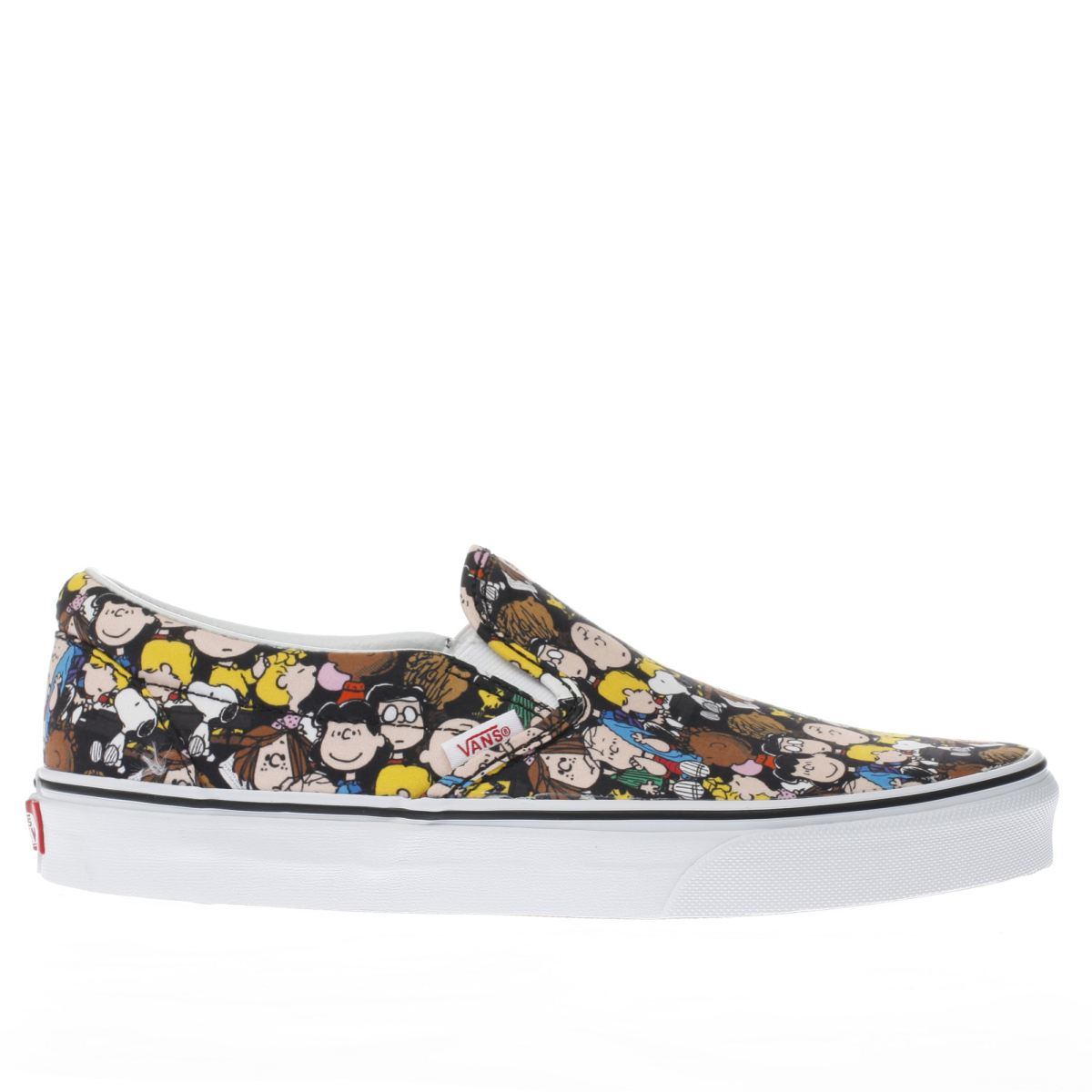 vans black & yellow slip-on peanuts the gang trainers