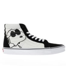 Vans White & Black Sk8-hi Peanuts Joe Cool Mens Trainers