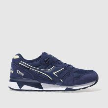 Diadora Navy & White N9000iii Mens Trainers