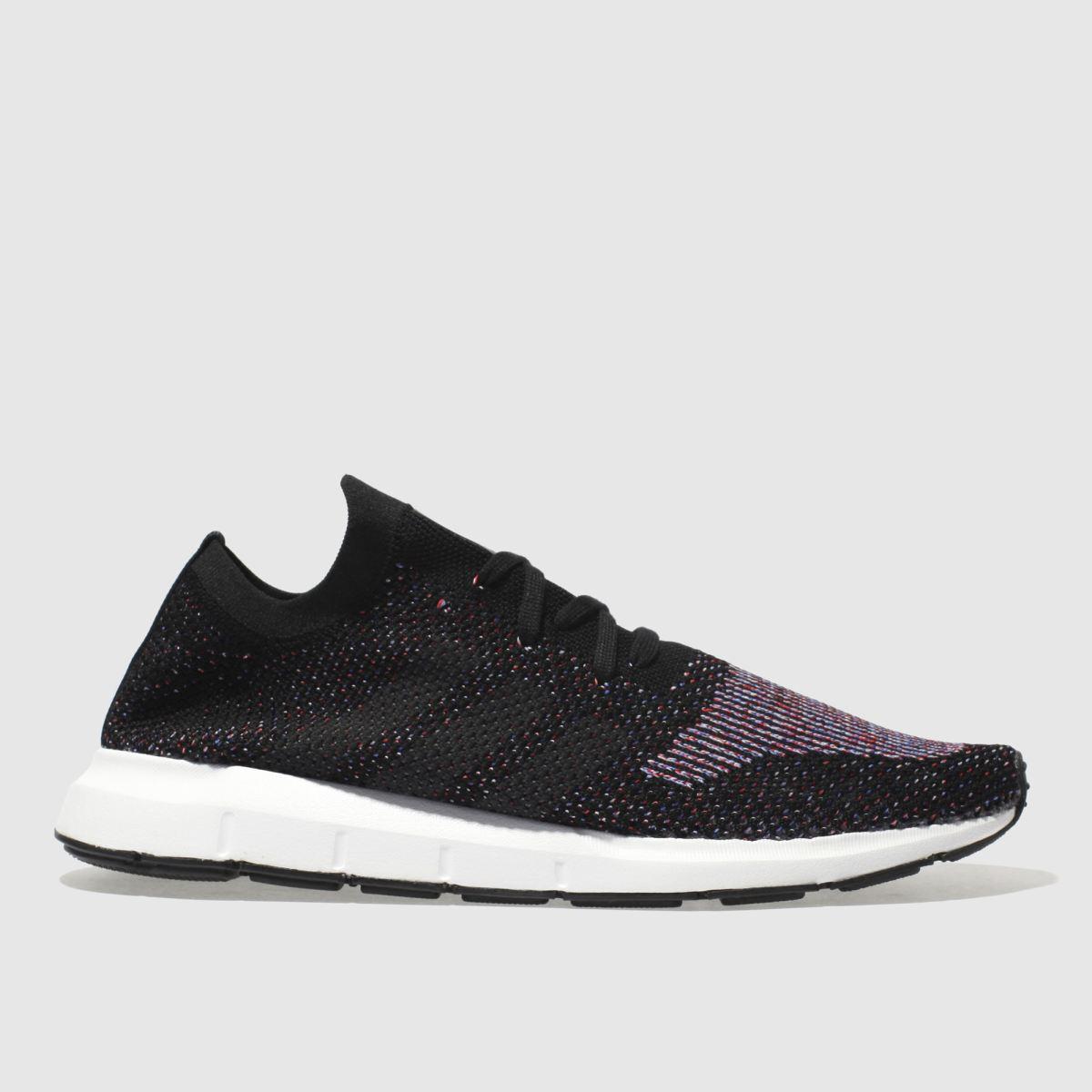 Adidas Black And Blue Swift Run Primeknit Trainers
