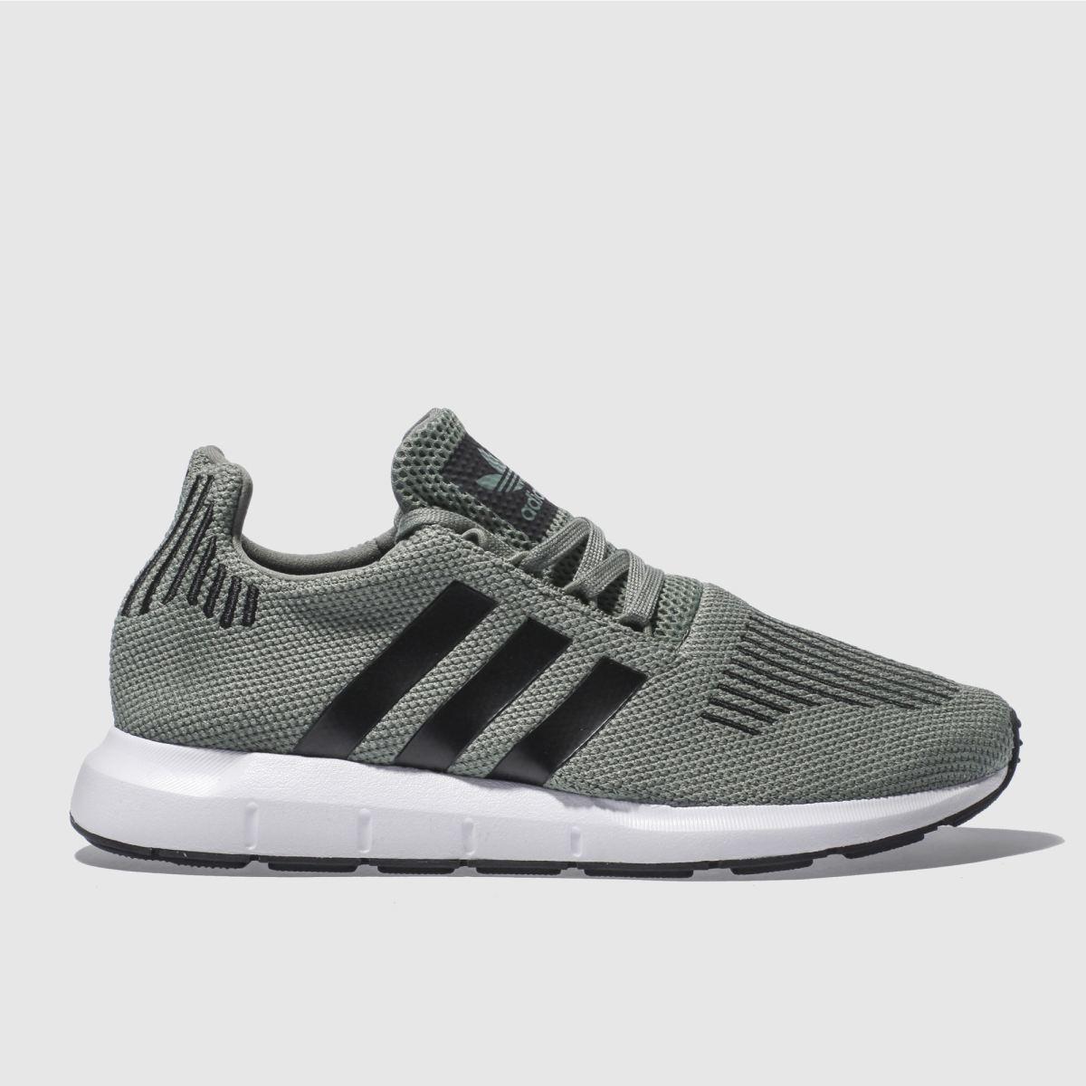 adidas khaki swift run trainers