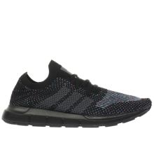 Adidas Black Swift Run Primeknit Mens Trainers