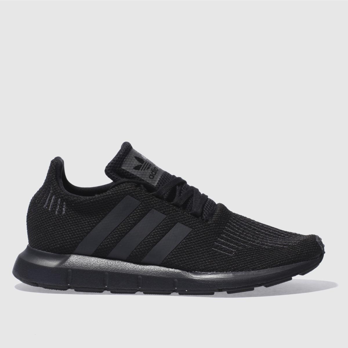 adidas black & grey swift run trainers
