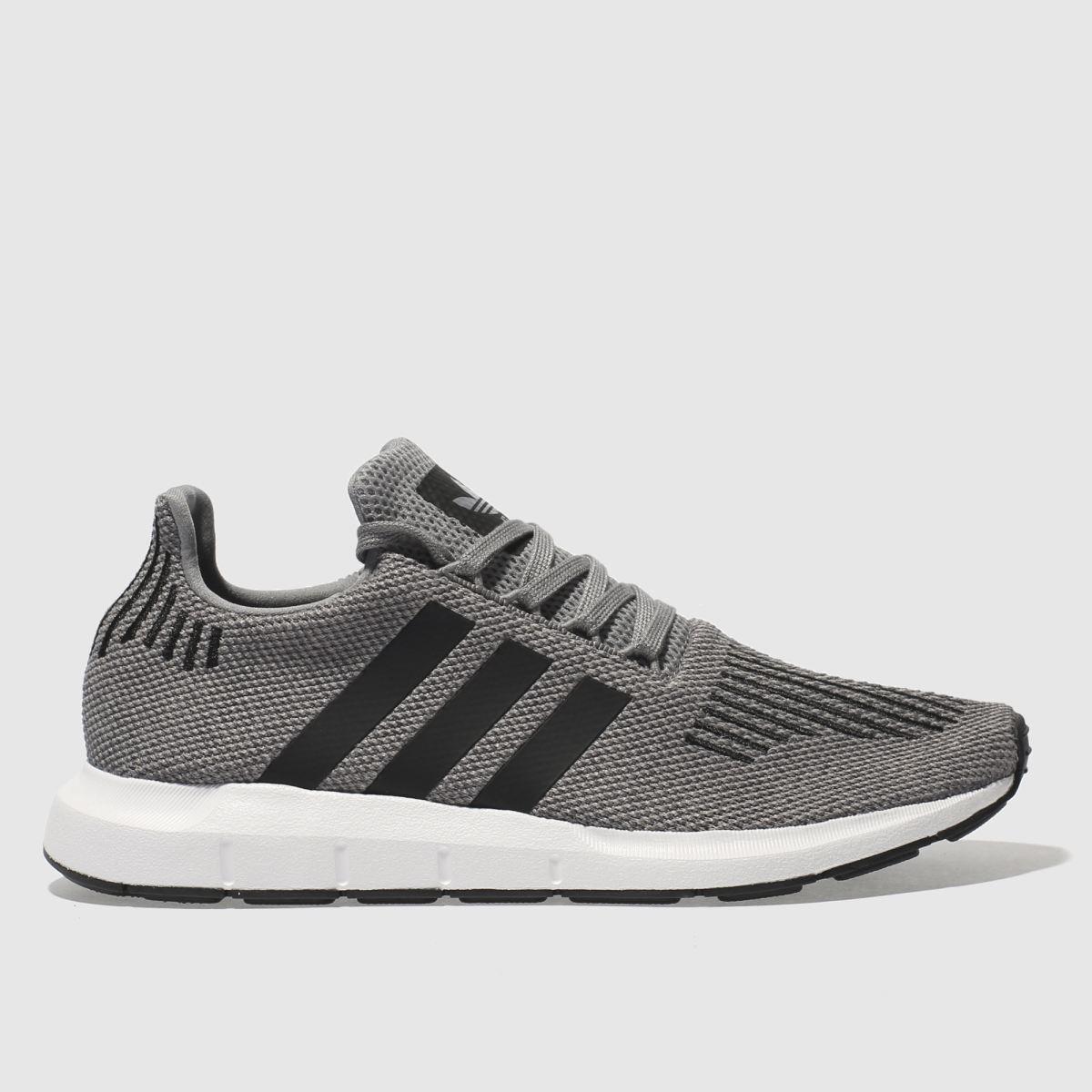 adidas grey & black swift run trainers
