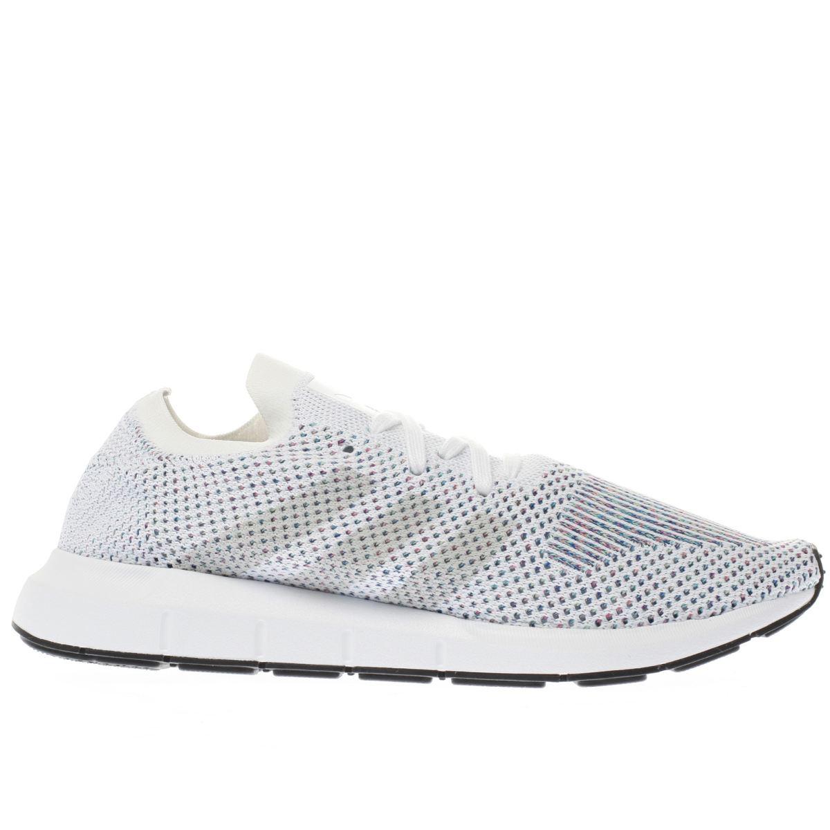 adidas white swift run primeknit trainers