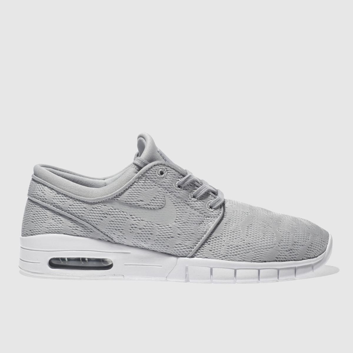 nike sb light grey stefan janoski max trainers