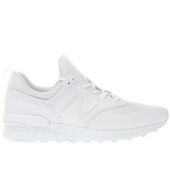 New Balance White 574 Sport Mens Trainers