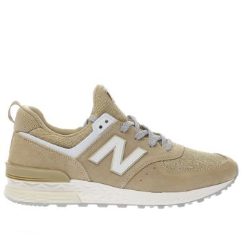 New Balance Tan 574 Sport Mens Trainers