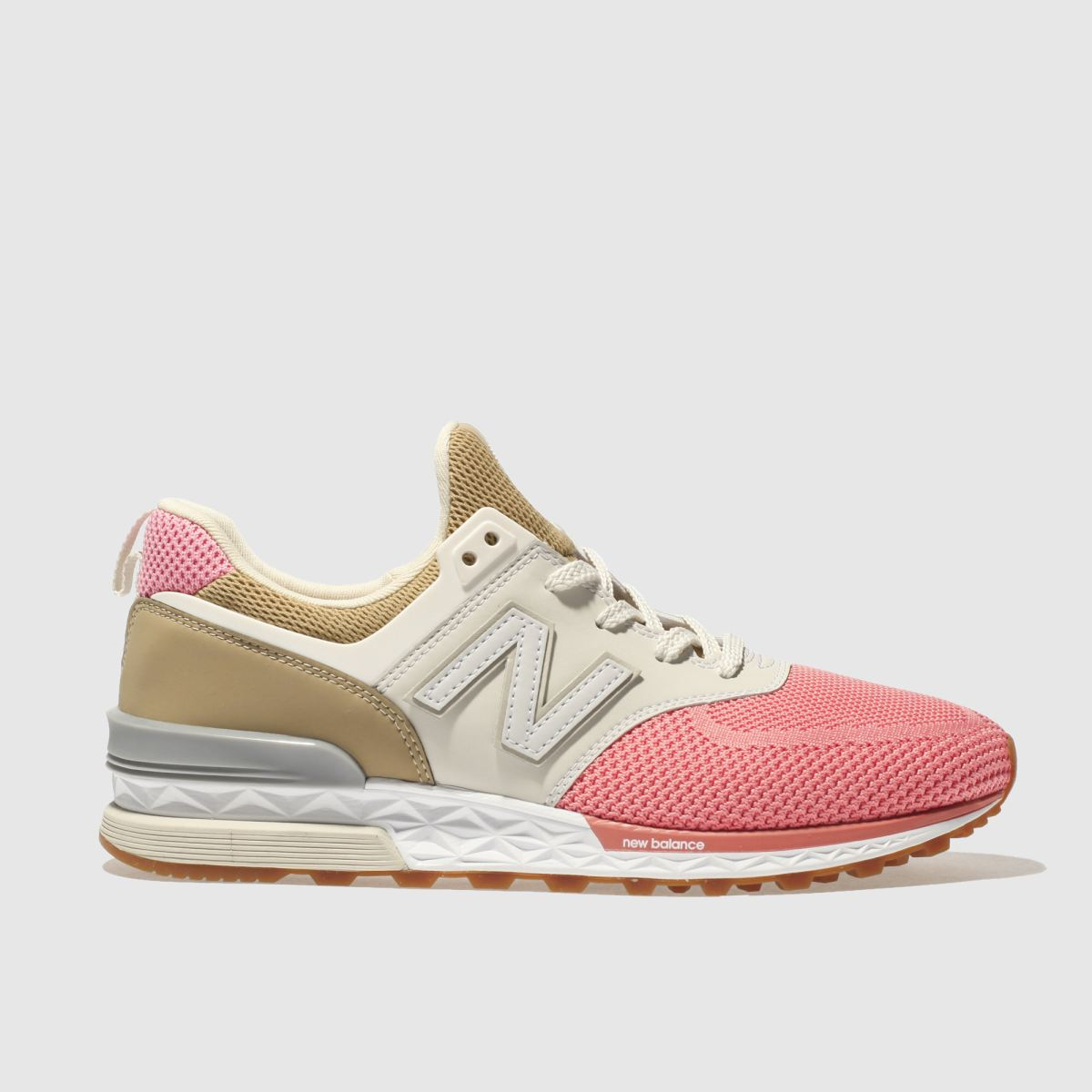 New Balance Tan 574 Sport Trainers
