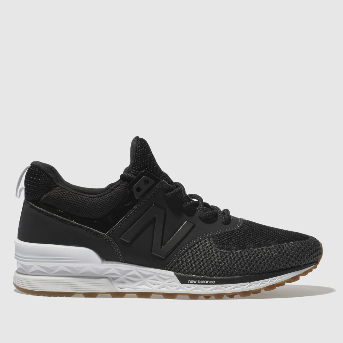 New Balance Black & Grey 574 Sport Trainers