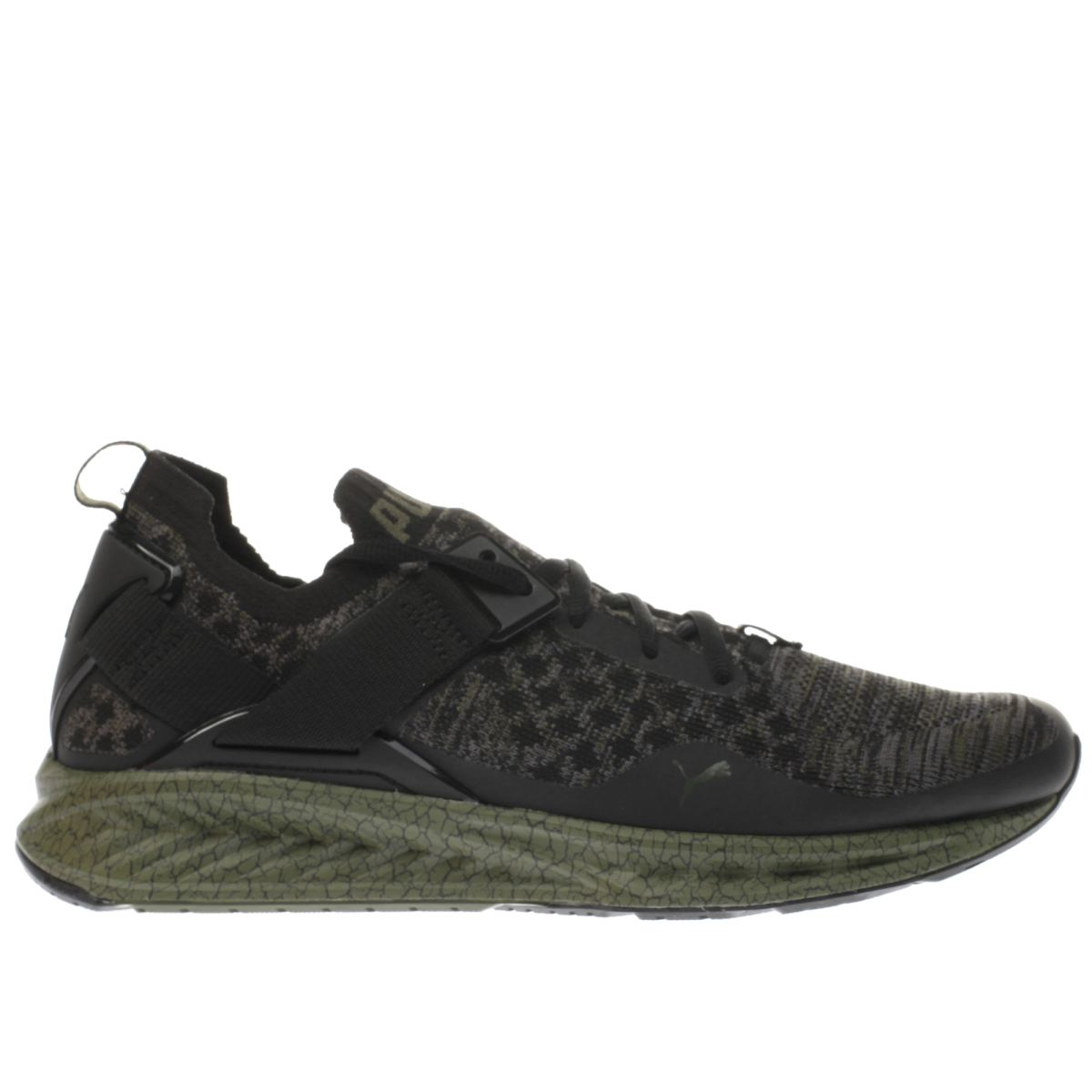 puma black & green ignite limitless evoknit trainers